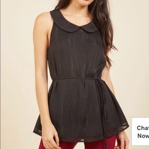 ModCloth Genuine Ingenuity Sleeveless top in Sm